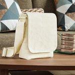 Fairtrade cotton canvas mini messenger