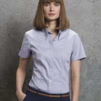 Kustom Kit Ladies S/Sleeve Oxford Shirt Thumbnail
