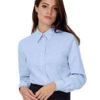 Ladies Oxford Long Sleeve Shirt Thumbnail