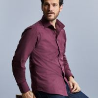 Men's Long Sleeve Easy Care Fitted Shirt Thumbnail
