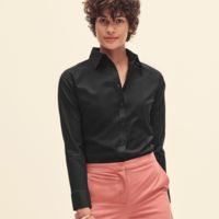 Lady-Fit Long Sleeve Oxford Shirt Thumbnail