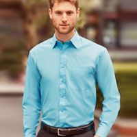 Russell Collection Long Sleeve Easy Care Poplin Shirt Thumbnail