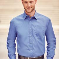 Russell Collection Long Sleeve Easy Care Cotton Poplin Shirt Thumbnail