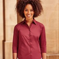 Russell Collection Ladies 3/4 Sleeve Easy Care Fitted Shirt Thumbnail