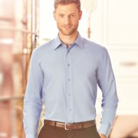 Russell Collection Long Sleeve Tailored Poplin Shirt Thumbnail