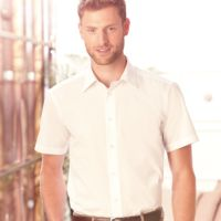 Russell Collection Short Sleeve Tailored Poplin Shirt Thumbnail