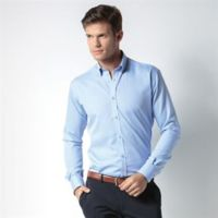 Slim fit non-iron Oxford twill shirt long-sleeved (slim fit) Thumbnail