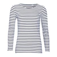 SOL'S Ladies Marine Long Sleeve Stripe T-Shirt Thumbnail