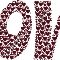 Love Hearts Typography 5 No Background Thumbnail
