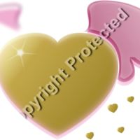 Gold Heart with Pink Wings Thumbnail